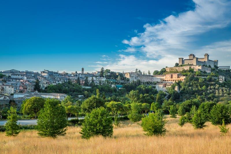 Piękny kasztel w Spoleto, Włochy, Umbria zdjęcie royalty free