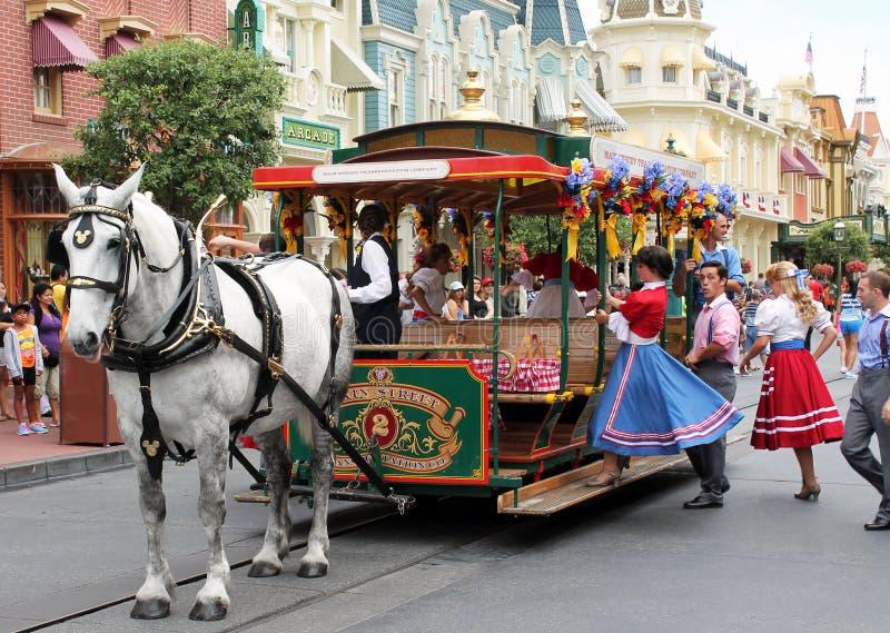Piękny koń w magicznym królestwie zdjęcie royalty free