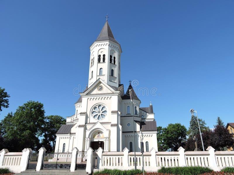 Piękny kościół, Lithuania obraz royalty free