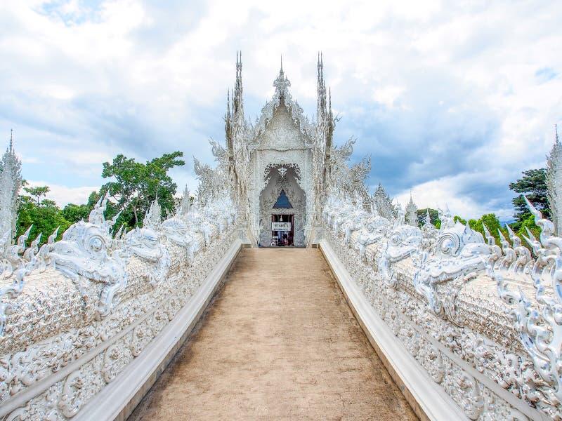 Piękny kościół Wata Rong Khun świątynia w Chiangrai, Tajlandia 1 obraz stock