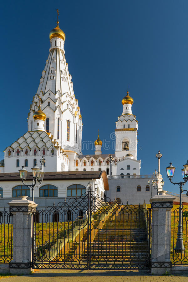 Piękny kościół Wszystkie święty w Minsk obrazy royalty free