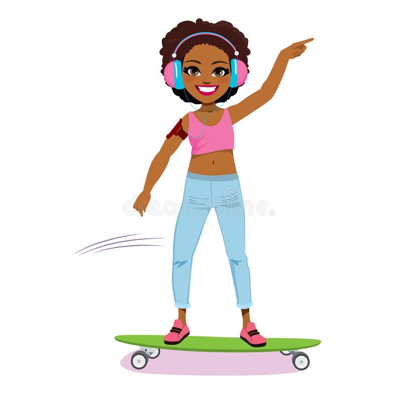 Piękny kobiety łyżwiarstwo ilustracja wektor
