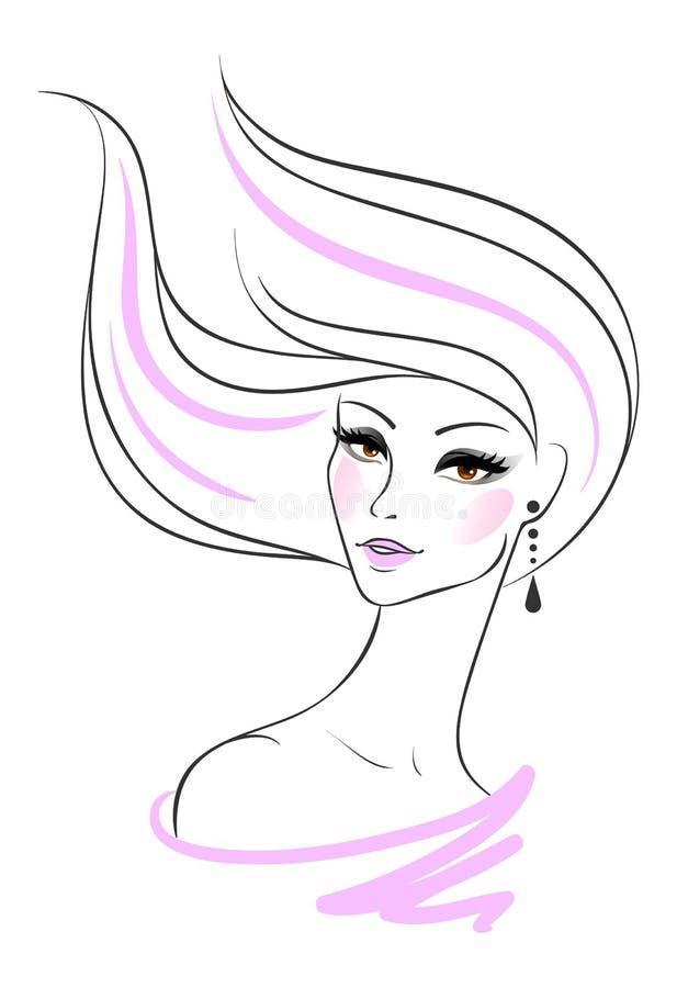 Piękny kobiety pic ilustracji