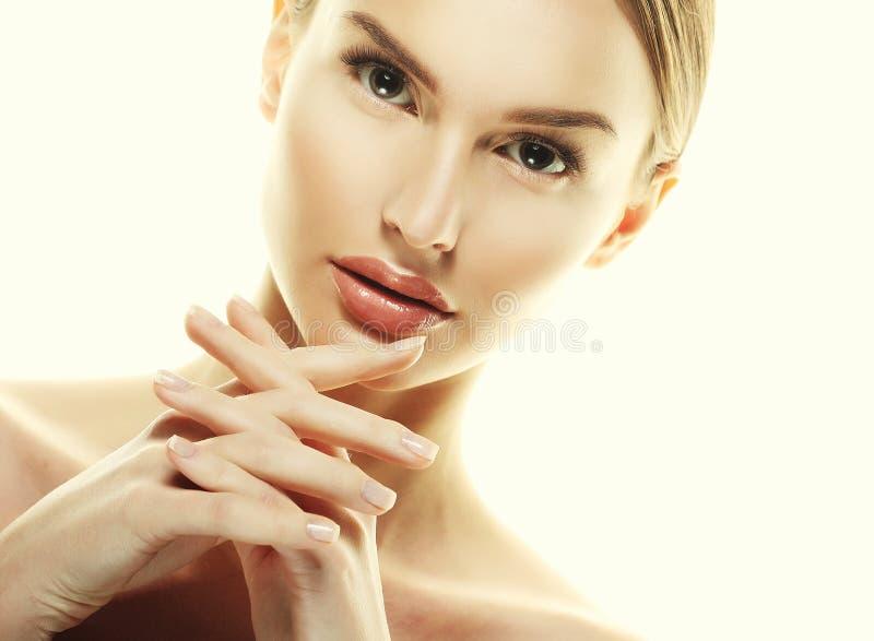 Piękny kobiety twarzy portreta piękna skóry opieki pojęcie zdjęcie royalty free