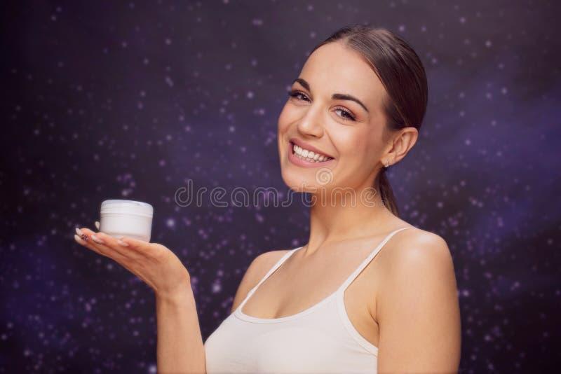 Piękny kobiety twarzy portreta piękna skóry opieki pojęcie obrazy royalty free