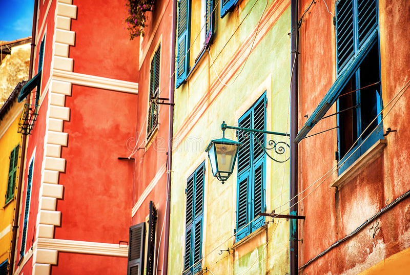 Piękny kolorowy włoszczyzna dom obrazy royalty free