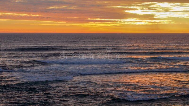 Piękny kolorowy zmierzch przy plażą w Margaret rzece, zachodnia australia zdjęcie royalty free
