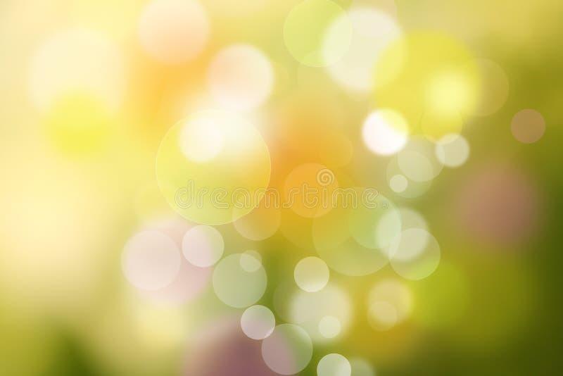 Piękny koloru bokeh tło, Abstrakcjonistyczny wiosny tło fotografia stock