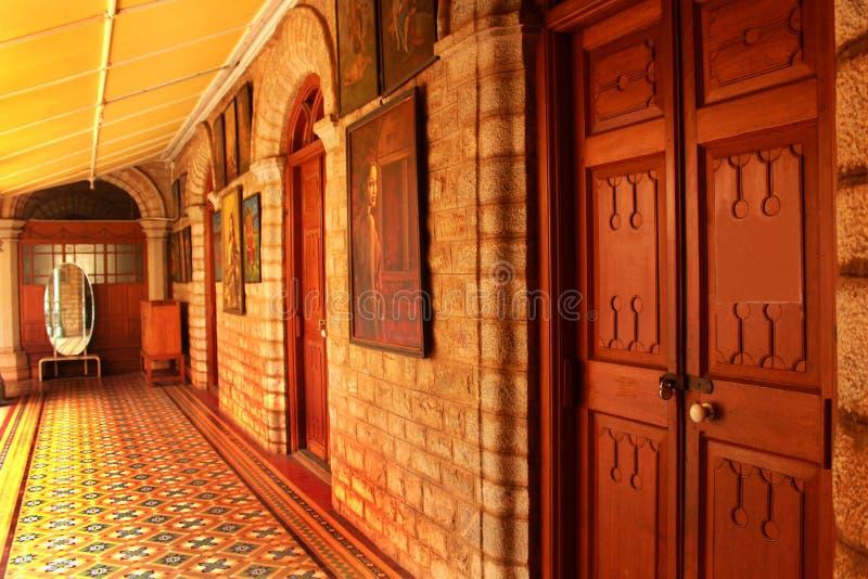Piękny korytarz w pałac Bangalore zdjęcia stock