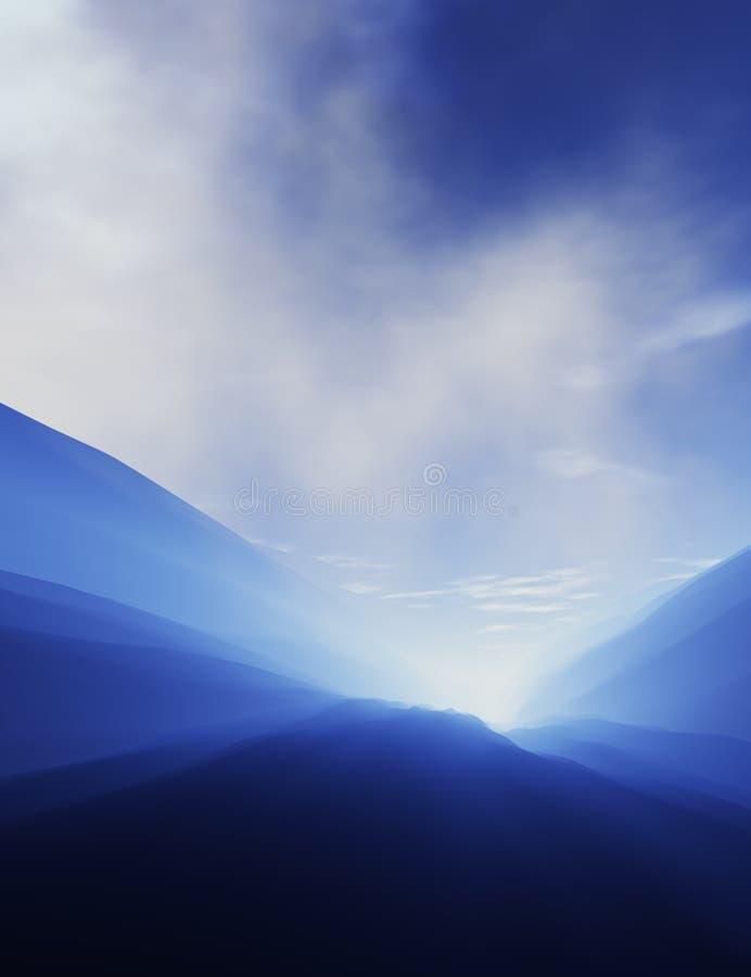 piękny krajobraz ilustracja wektor