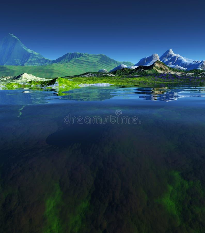 piękny krajobraz ilustracji