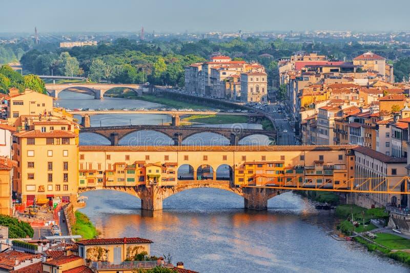 Piękny krajobraz above, panorama na dziejowym widoku Fl zdjęcia royalty free