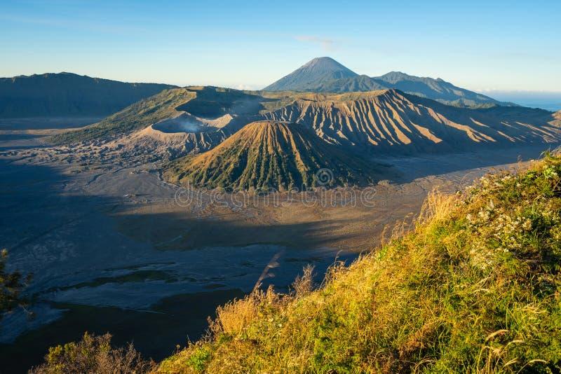 Piękny krajobraz Bromo wulkanu góra w ranku, wschód obrazy royalty free