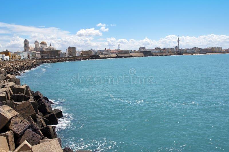Piękny krajobraz Cadiz, Hiszpania obrazy stock