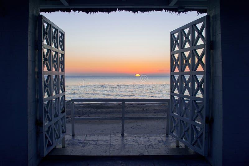 Piękny krajobraz i morze zdjęcia royalty free
