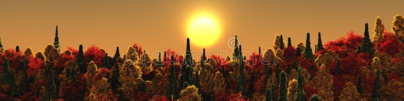 piękny krajobraz jesieni obrazy stock