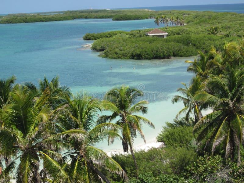 Piękny krajobraz Karaibska raj wyspa zdjęcia stock