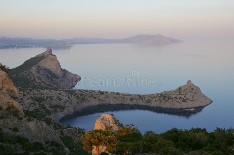 Piękny krajobraz Morze i wybrzeże fotografia stock