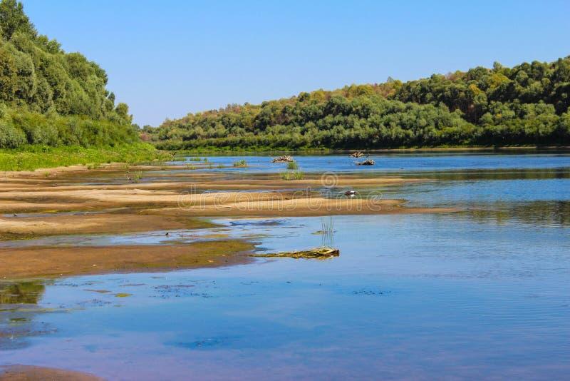 Piękny krajobraz no jest rzeki fotografia royalty free