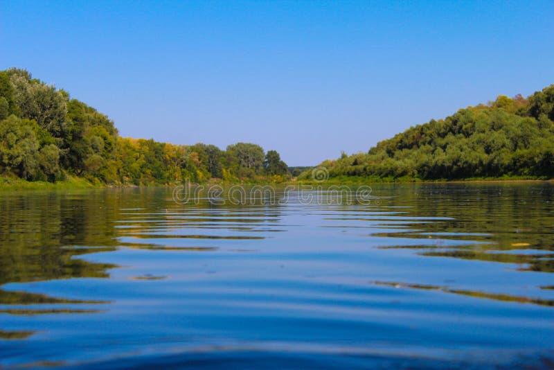 Piękny krajobraz no jest rzeki zdjęcie stock