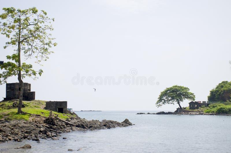 Piękny krajobraz ochraniał Andaman port morskiego Blair India obraz royalty free