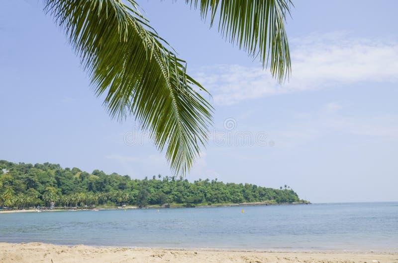 Piękny krajobraz ochraniał Andaman port morskiego Blair India zdjęcie stock