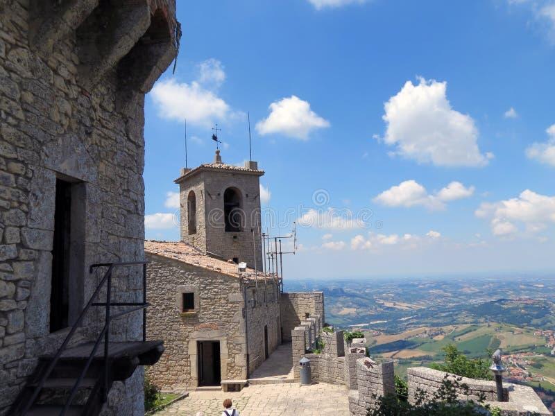Piękny krajobraz od fortecy Prima-Torre fotografia royalty free