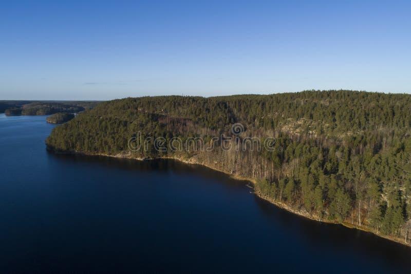 Piękny krajobraz przy Agelsjon, Norrkoping, Szwecja, Scandinavi zdjęcia stock