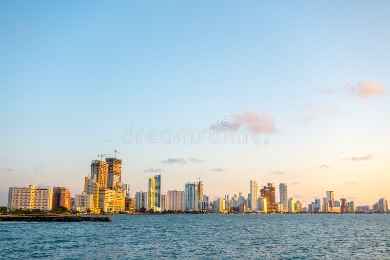 Piękny krajobraz w Cartagena, Kolumbia fotografia royalty free