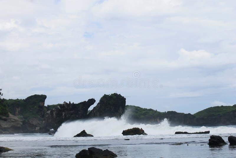 Piękny krajobraz w Gunung Kidul, Yogyakarta zdjęcie royalty free