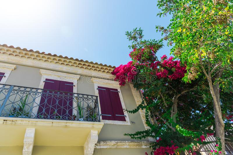 Piękny krajobraz w lecie w Grecja obrazy stock