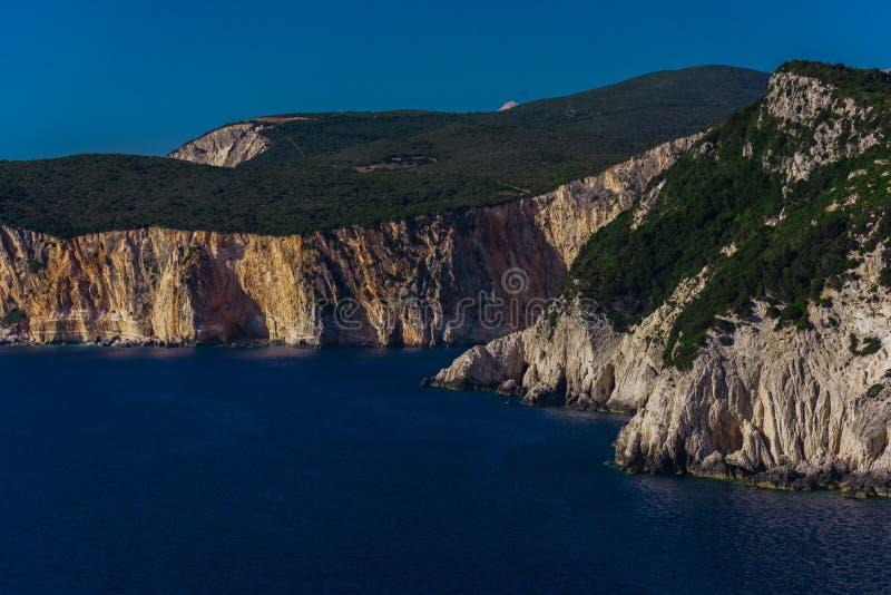 Piękny krajobraz w lecie w Grecja zdjęcia royalty free