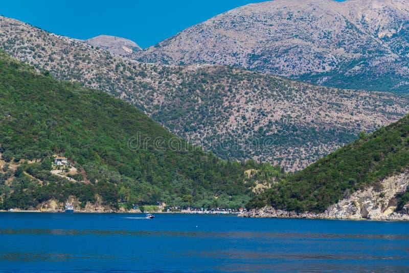 Piękny krajobraz w lecie w Grecja fotografia stock