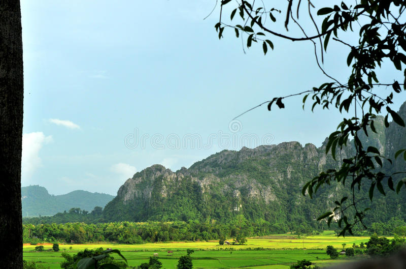 piękny krajobrazowy Laos vang vieng obrazy royalty free