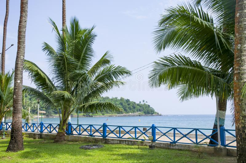 Piękny krajobrazowy seashore port Blair India obraz royalty free