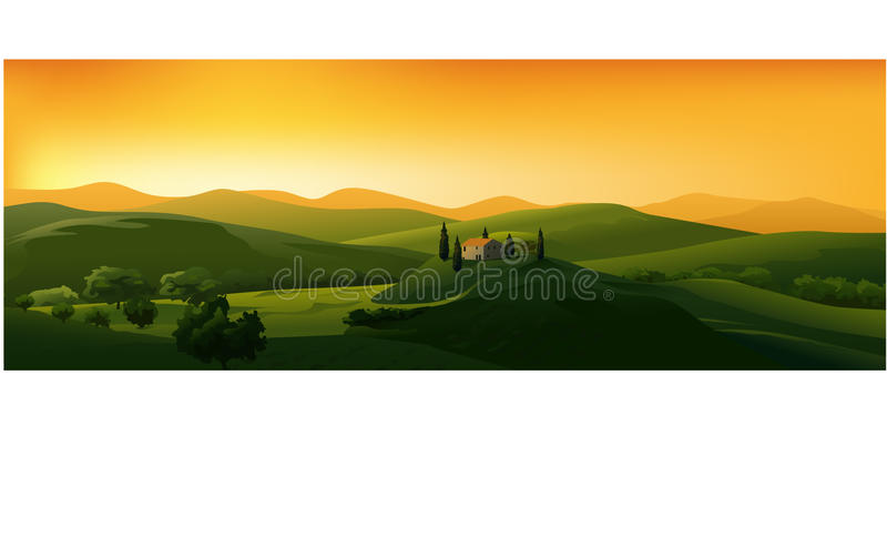piękny krajobrazowy wektor ilustracja wektor