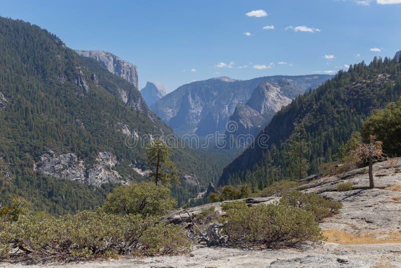 Piękny krajobrazowy Yosemite park narodowy obraz stock