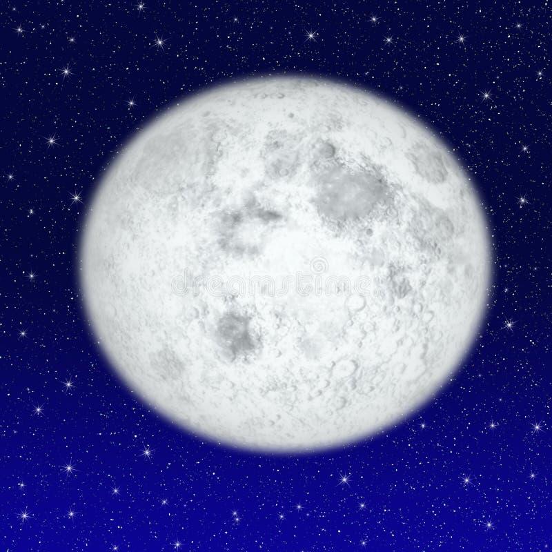 piękny księżyc w pełni ilustracja wektor