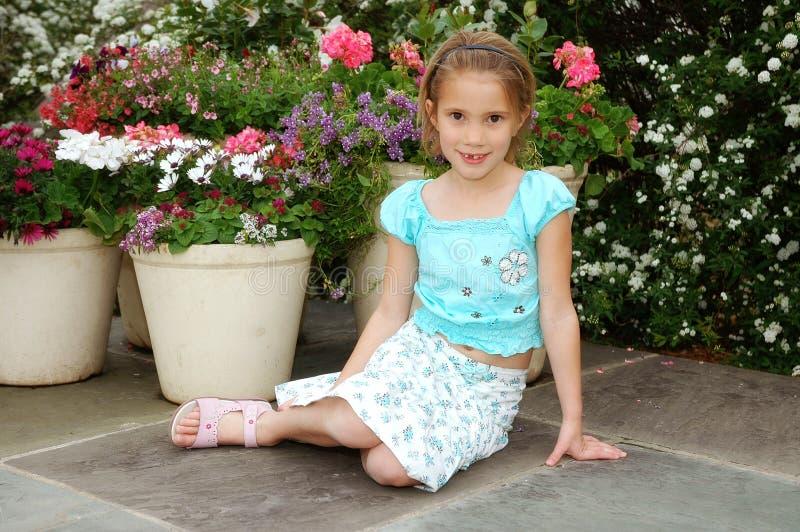 piękny kwiat dziewczyną zdjęcie royalty free