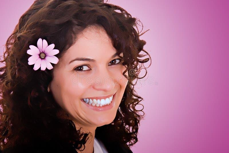 piękny kwiat uśmiech fotografia stock