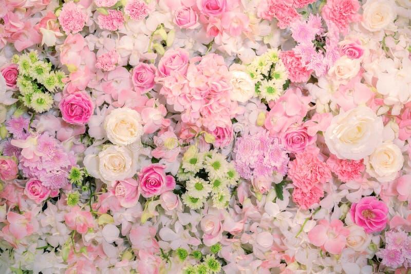 Piękny kwiatu tło dla ślubnej sceny fotografia royalty free