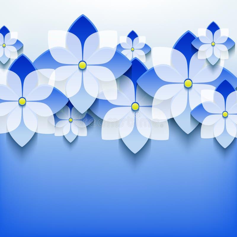 Piękny kwiecisty koronkowy tło z 3d kwiatem royalty ilustracja