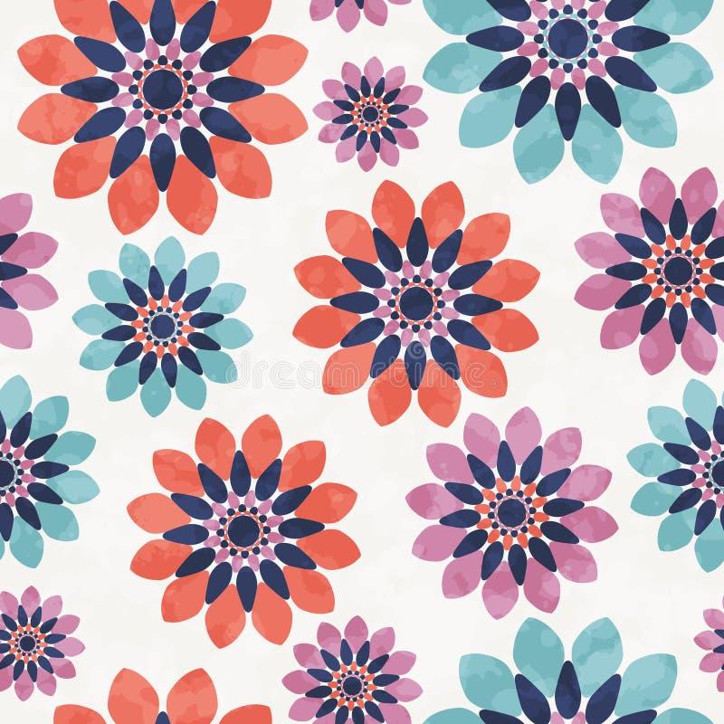 Piękny kwiecisty tkanina wzór Bezszwowy tło royalty ilustracja