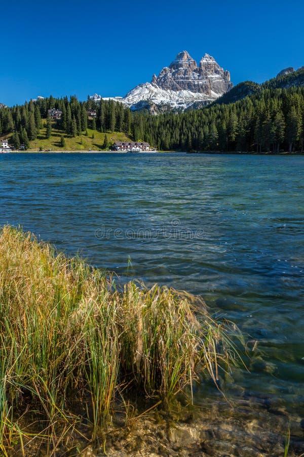 Piękny Lago Di Misurina w dolomitach w Północnym Włochy fotografia stock