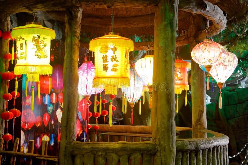 Piękny lampion w laoyuanzi muzeum, srgb wizerunek zdjęcia royalty free