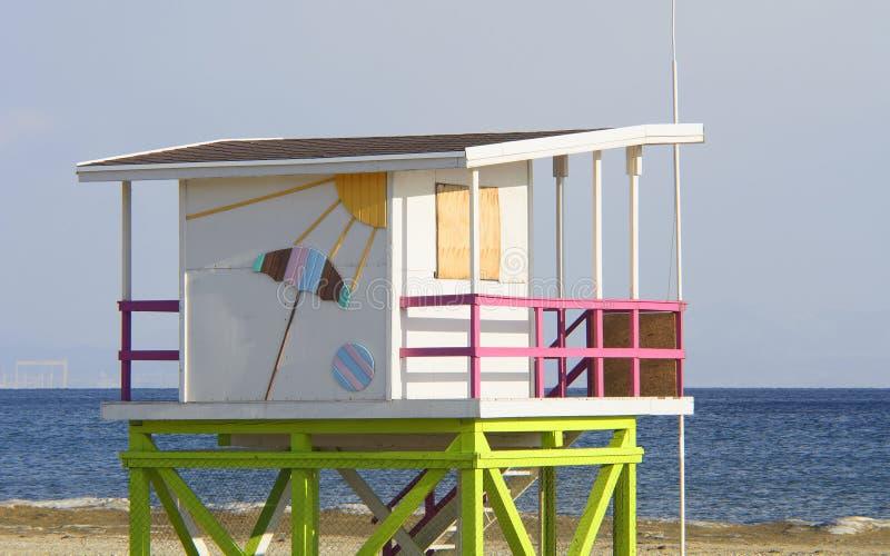 Piękny lato dom na plaży w zimie obrazy royalty free
