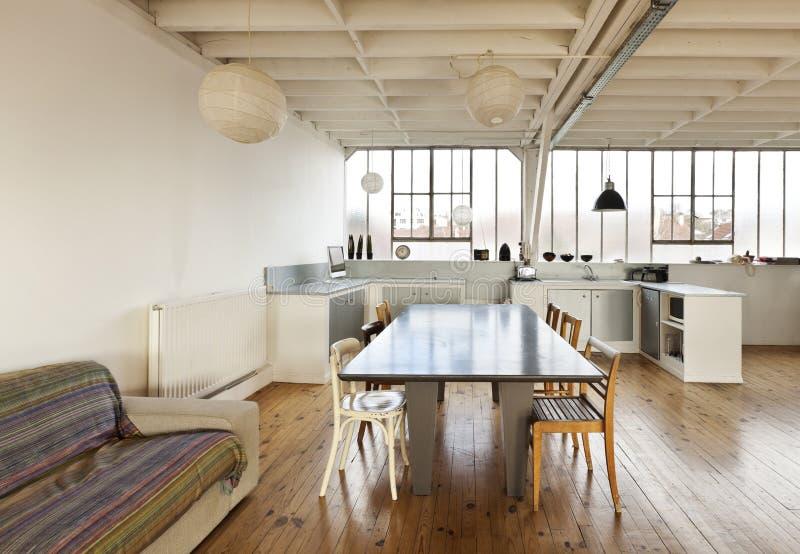 Piękny loft zdjęcia royalty free