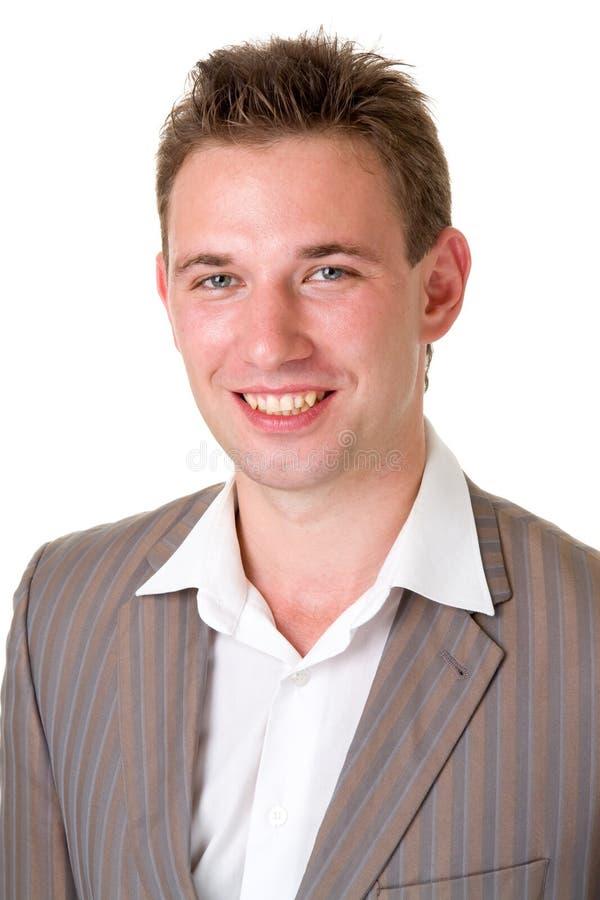 piękny mężczyzna się uśmiecha obrazy stock