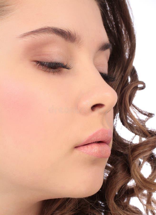 Piękny młodej kobiety portreta profil obraz stock