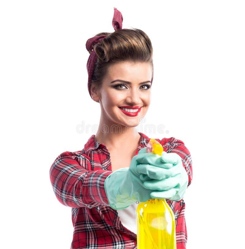 Download Piękny młody cleaner zdjęcie stock. Obraz złożonej z chores - 65225680